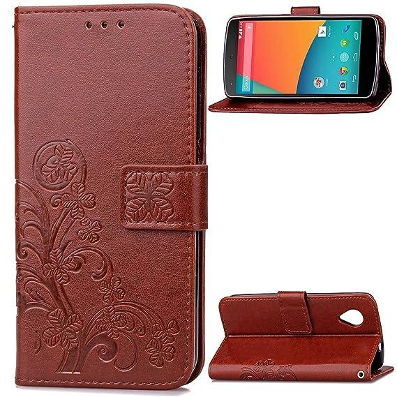 finest selection 46d71 55c58 Nexus 5 Case,Gift_Source [Card Slot] [Kickstand Feature] Premium Vintage  Emboss Flower PU Leather Wallet Case Folio Flip Case with Wrist Strap for  LG ...