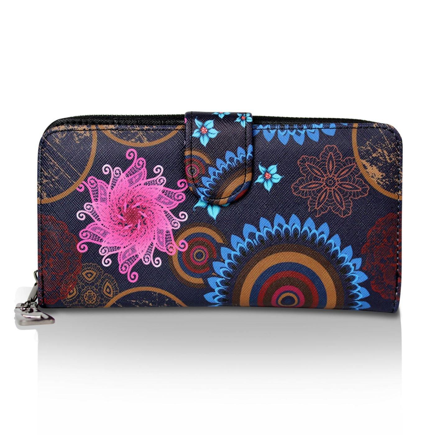 Glamexx24 Kleine Geldbörse Mini Portemonnaie Vintage Design Brieftasche Geldbeut