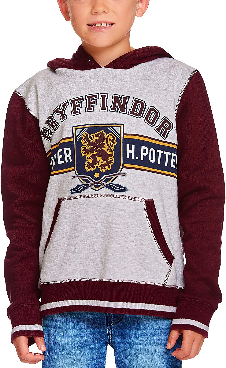 HARRY POTTER Sweat à Capuche pour Enfants Gryffondor Crest