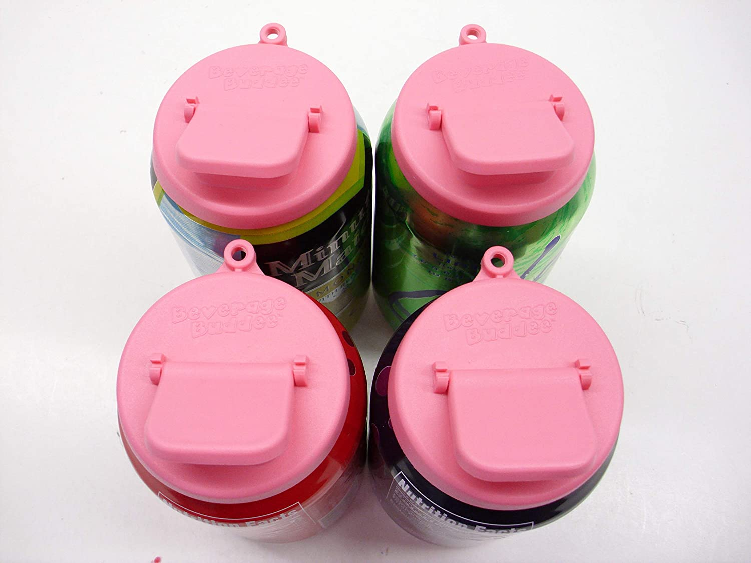 Beverage Buddee Can Cover - Best Can Cover For Standard Size Soda/Beer/Energy Drink Cans - Made In The USA - BPA-PCB Free - 4 pack (Pink)