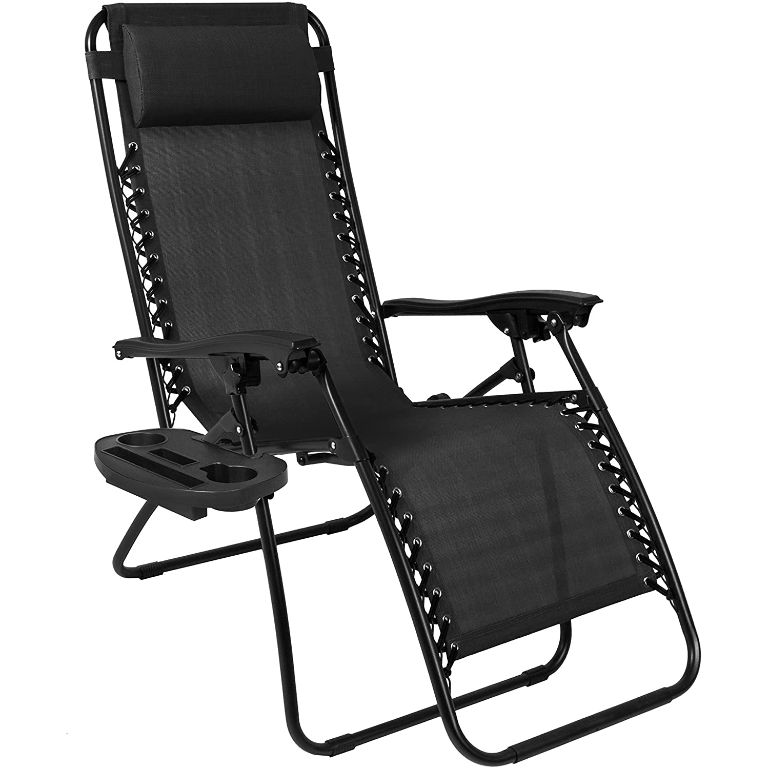 best choice products zero gravity chairs case of 2 black lounge patio chairs outdoor yard beach new - Beach Lounge Chairs