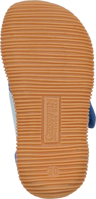 GIESSWEIN Lauflern-Schuh Sarstedt atmungsaktiv Einlegesohle aus Leder rutschfeste Sohle Lauflernschuh f/ür Jungen Hausschuhe mit Klettverschluss Hohe Baumwoll-Kinderhausschuhe