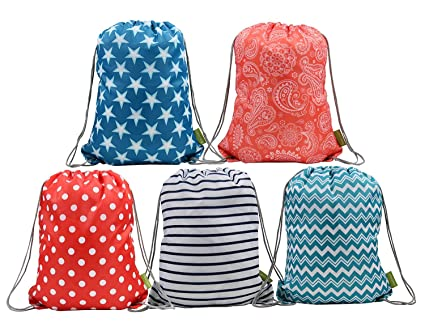 Amazon BeeGreen Water Resistant Ripstop Polyester Drawstring New Drawstring Bag Pattern