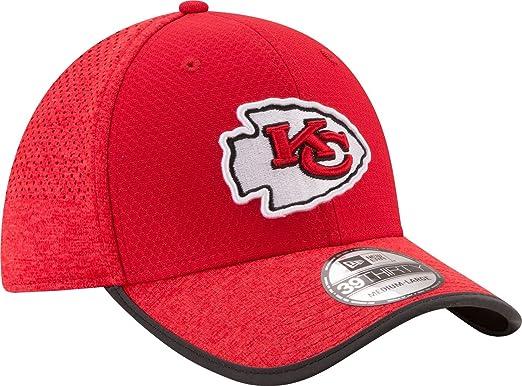 best website 1b951 33a00 New Era Men s Kansas City Chiefs 2017 Training Camp 39Thirty Red Flex Hat  ...