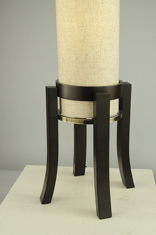 Dark Brown Nova Lighting 1010202 Trenton Table Lamp 12 x 12 x 28