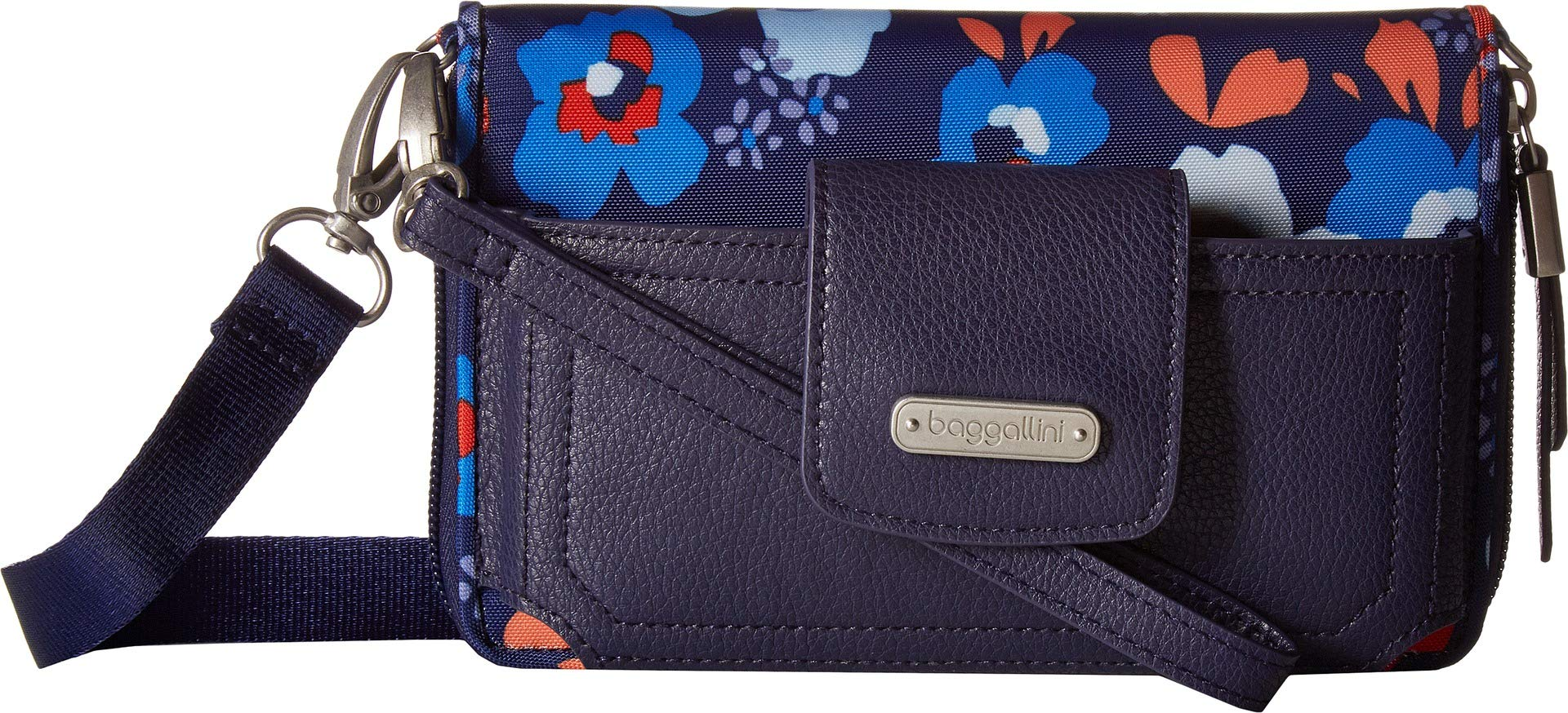 Baggallini Women's New Classic RFID Phone Wallet Crossbody Spring Bloom One Size by Baggallini