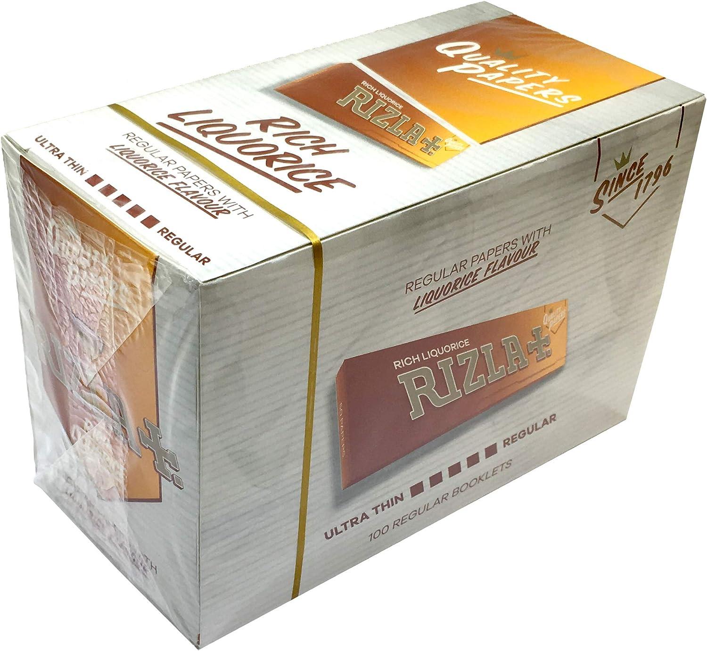Rizla Liquorice REGULAR SIZE Rolling Cigarette Smoking Papers