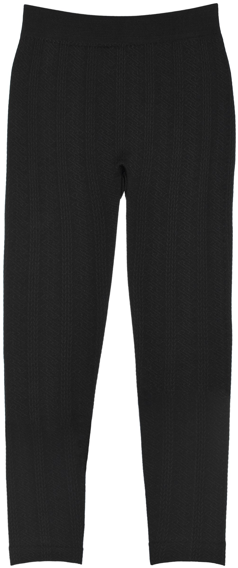 Crush Teen Girls Micro Fleece Lined Leggings in 2 Cable Stitch Patterns in Sizes 7-16 (7-14, 27859 Black)
