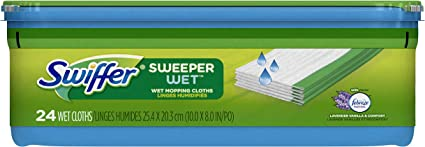 Swiffer Sweeper Wet Mopping Pad Refills for Floor Mop with Febreze Lavender Vani
