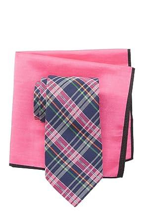 8b1cf00d8360c Ted Baker London Multi Color Plaid Silk Tie   Pocket Square Set - Navy