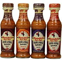 Nando's Peri Peri Sauce Variety 4 Flavors Combination, 4.7 Ounce (Pack of 4)