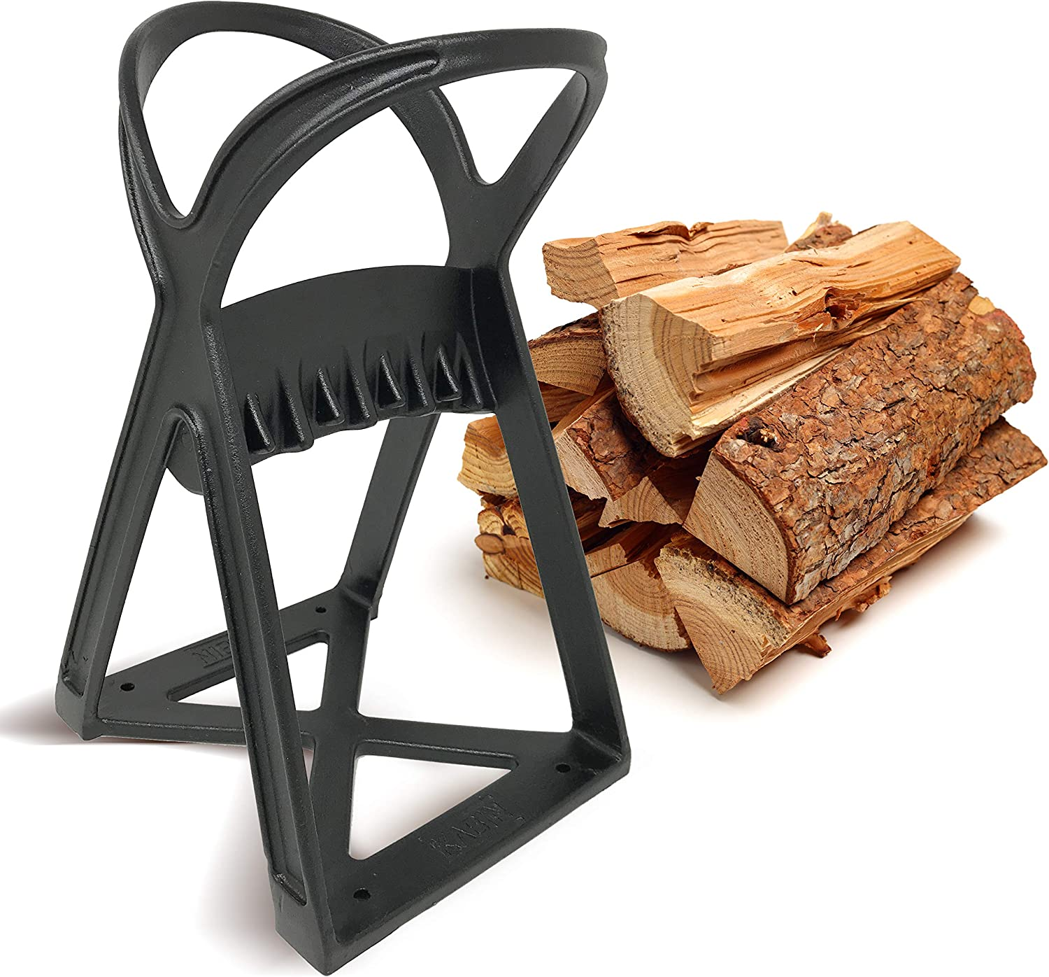 KABIN Kindle Quick Log Splitter - Manual Splitting Tool - Steel Wedge Point Splits Firewood Like A Boss Safely & Easily