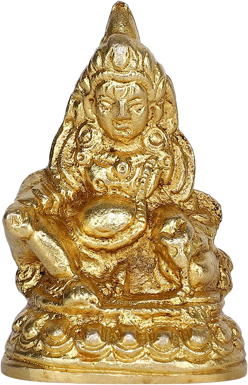 GURU JEE Brass Idol for Puja Room Decoration Shree Dhan Kuber Murti Spiritual Gifts