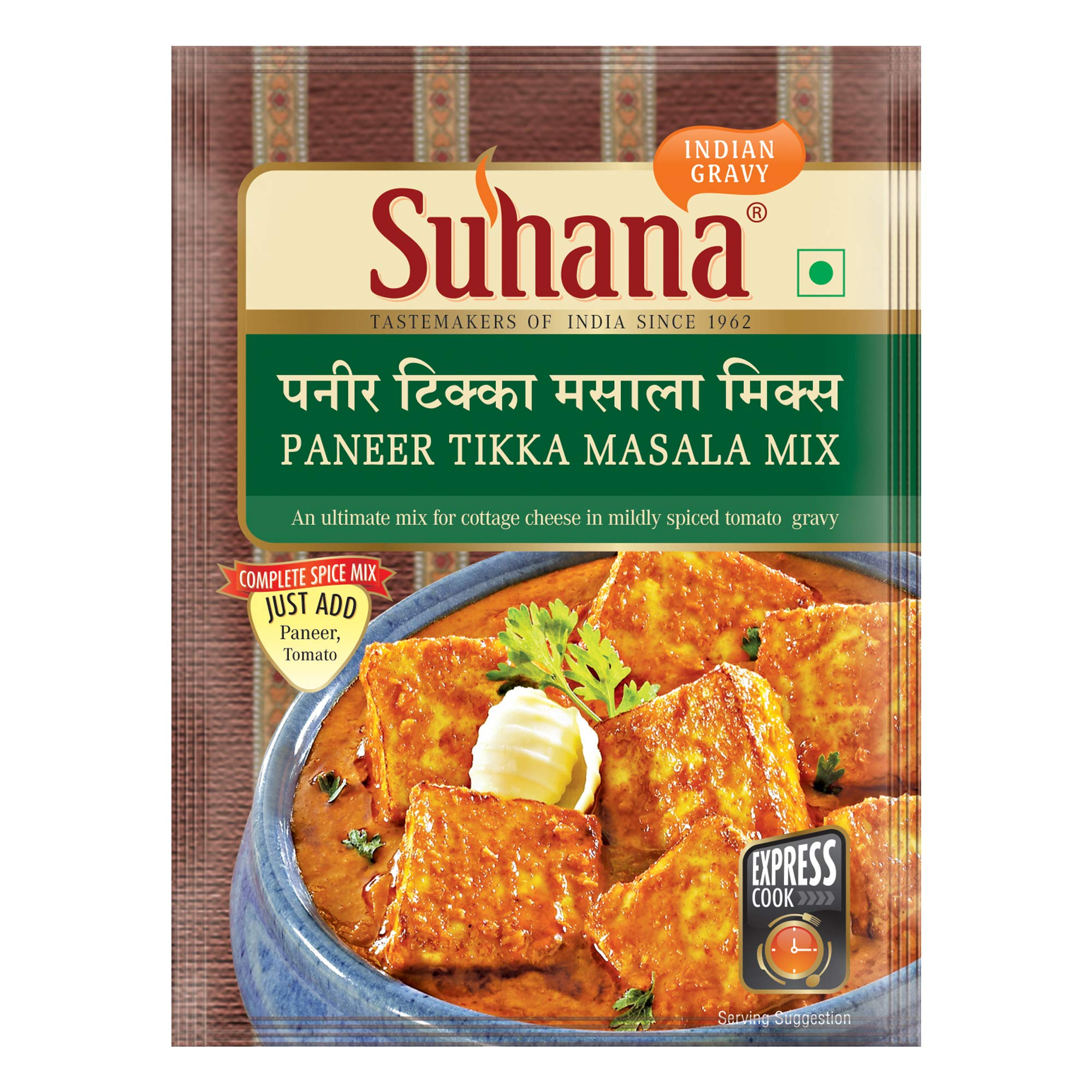 Suhana Paneer Tikka Masala 50g Pouch | Spice Mix | Easy to Cook | Pack of 3