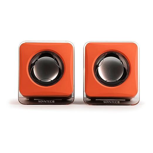 Soyntec Voizze 150 - Altavoces de ordenador de 4W (estereo), Sunset Orange: Amazon.es: Informática