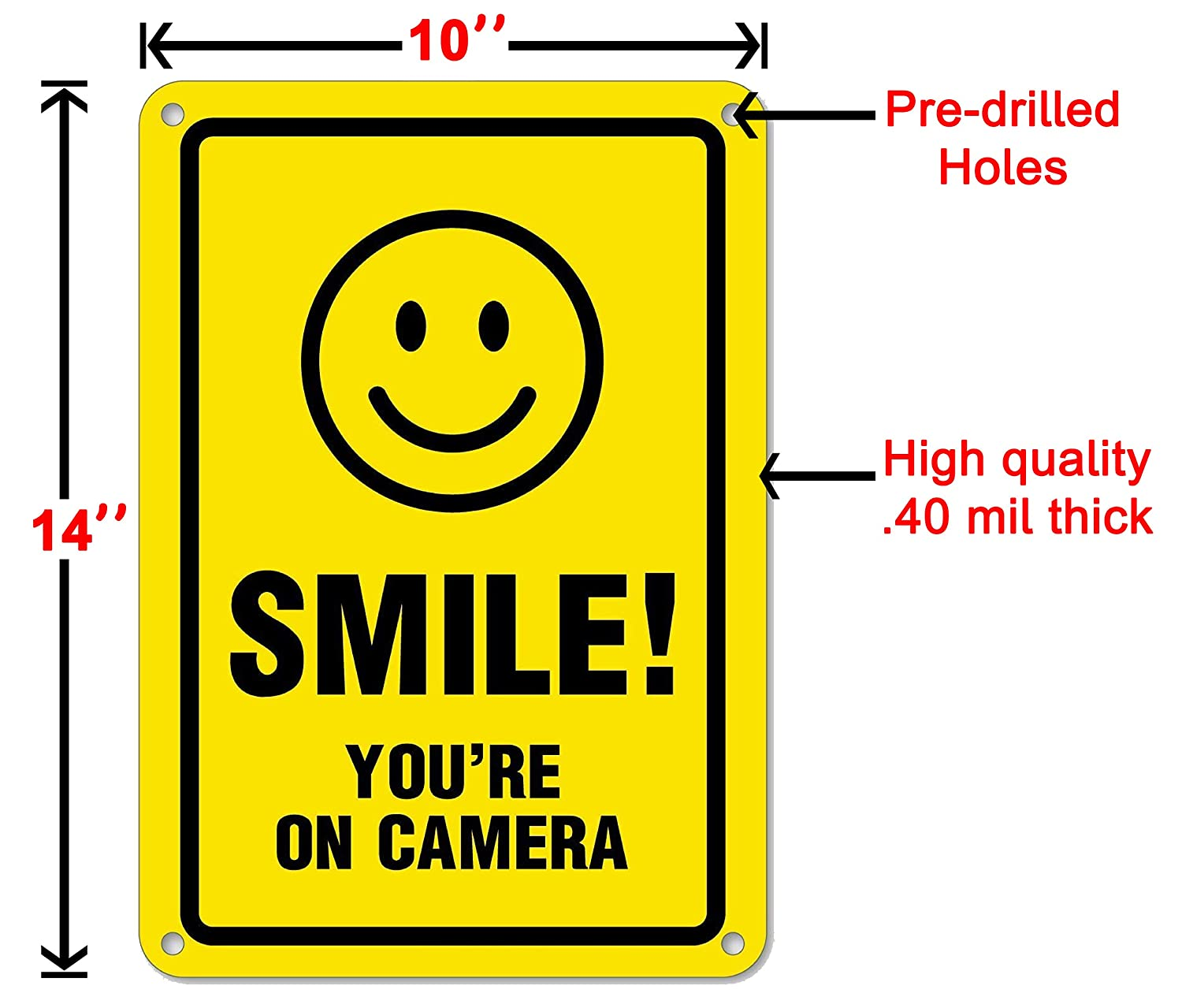 Amazon.com: Smile Youre On Camera - Señal de seguridad para ...
