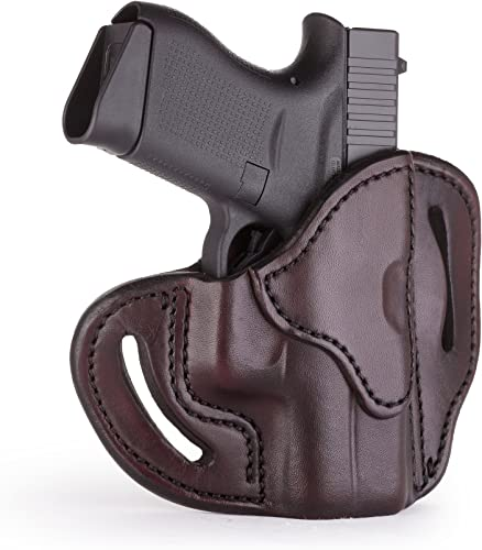 1791 GUNLEATHER Glock 43 Holster, Right Hand OWB G43 Leather Gun Holster for Belts. Fits Glock 43 and Ruger LC9 & Ruger SR22