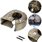 ConPus Titanium Turbo Blanket T3 Lava cover for Turbocharger Thermal Heat Shield Cover with Fastener Springs T25 T28…