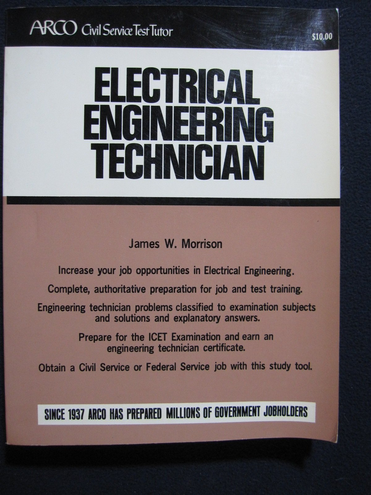 Electrical engineering technician (ARCO civil service test tutor): James  Warner Morrison: 9780668041492: Amazon.com: Books