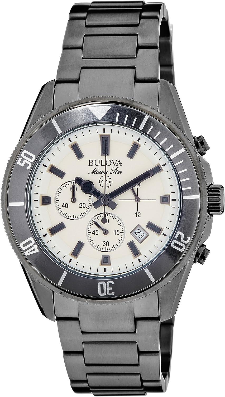 Bulova Men s 98B205 Analog Display Japanese Quartz Gray Watch