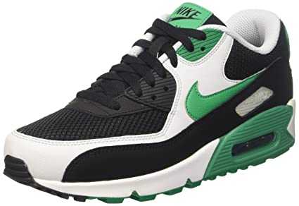 official photos 791b8 b33be Nike Herren Air Max 90 Essential Sneaker, Schwarz (Black Stadium Green-Pure