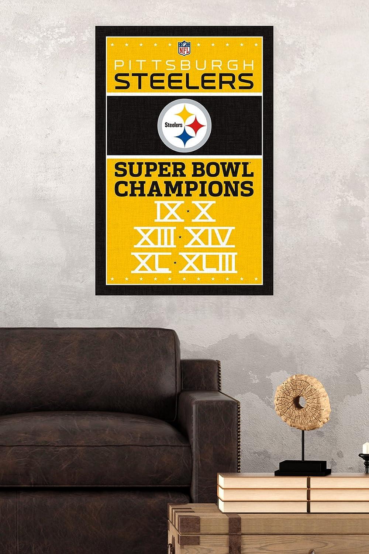 Amazon.com: Trends International Pittsburgh Steelers Champions ...