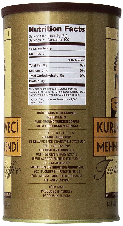 Amazon.com : Kurukahveci Mehmet Efendi Turkish Coffee, 17.6 Ounce ...