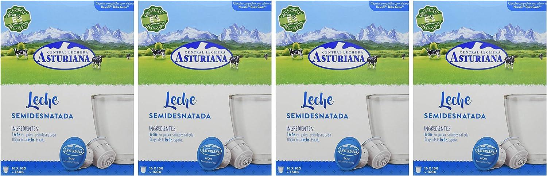 Central Lechera Asturiana Cápsulas de Leche Semidesnatada - 4 ...