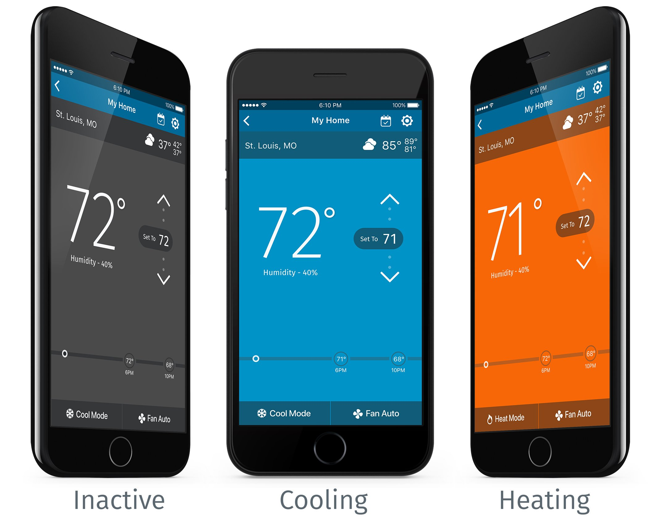 Emerson Sensi Touch Wi-Fi Thermostat with Touchscreen Color Display for Smart Home, ST75, Works with Alexa by Emerson Thermostats (Image #3)