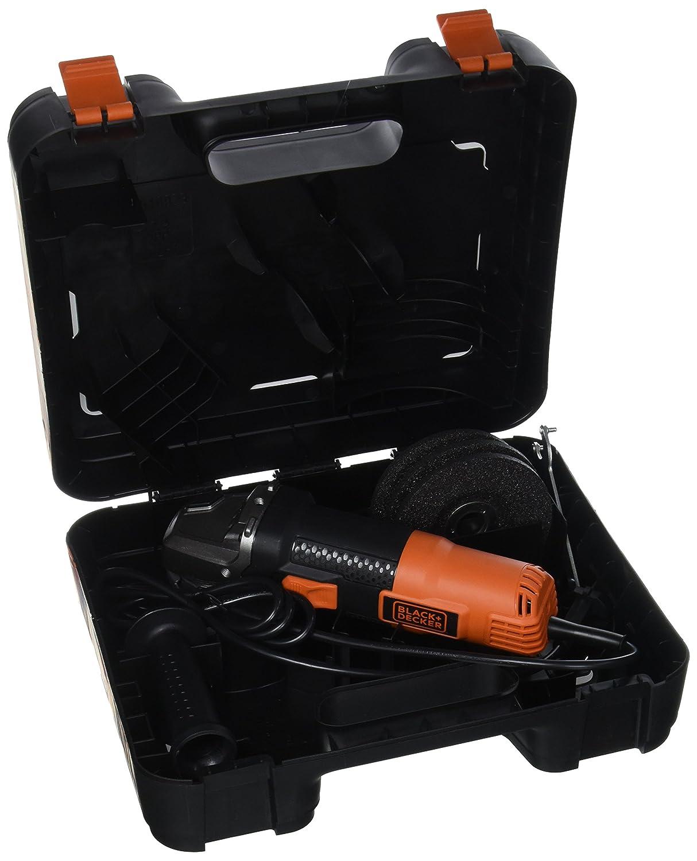 Noir 115 mm BLACK+DECKER BEG210-QS Meuleuse dAngle Poign/ée 3 Positions 900 W