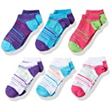 Amazon Price History for:Fruit of the Loom Girls' 6-Pair No Show Socks