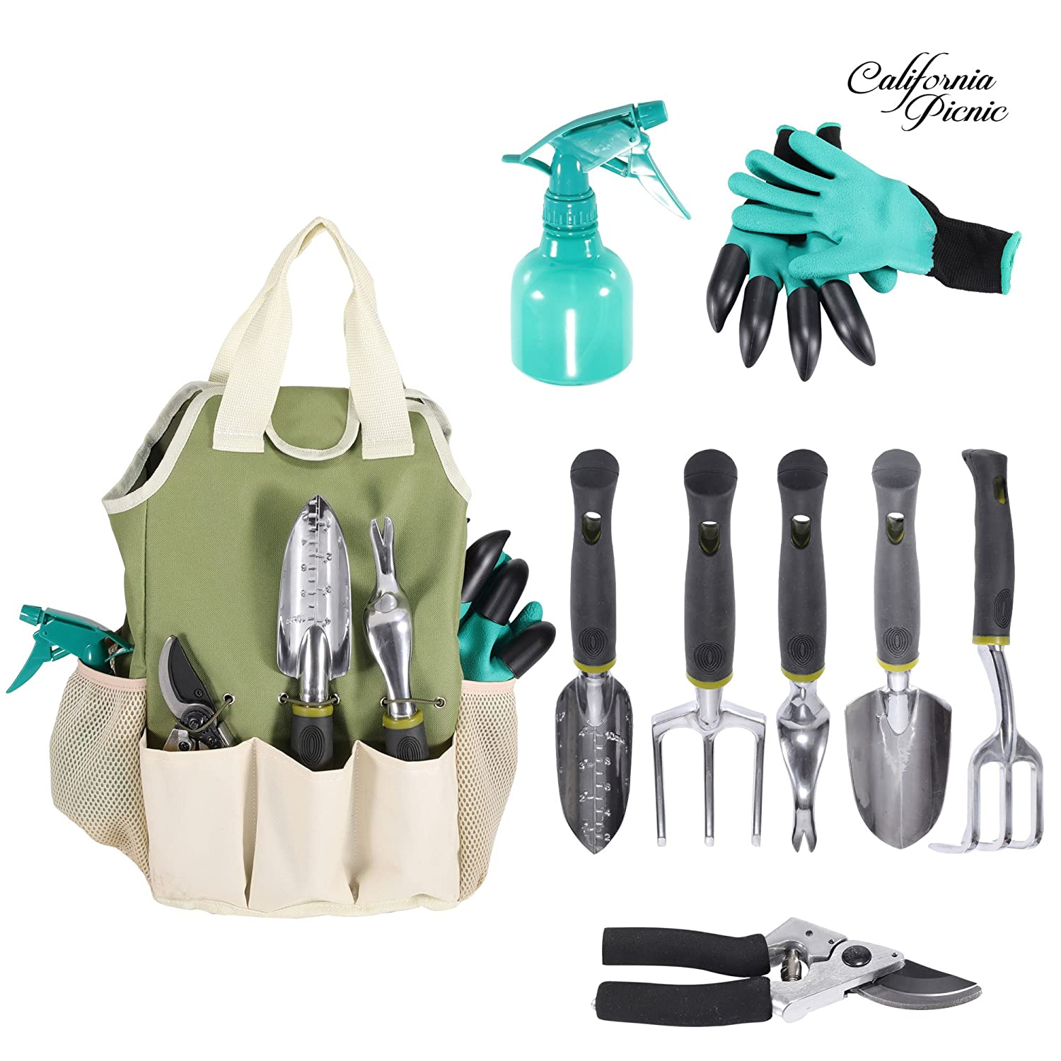 1 Pair Garden Digging Gloves With 4 Right Hand Fingertips Sharp+fork Claws Making Things Convenient For The People Tools