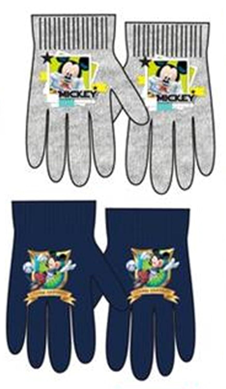 2 pares de guantes elasticos surtido diseño Mickey Mouse (Disney) (talla unica) 2-6 años + regalo de 18 rotuladores multicolor