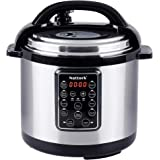 Nattork Electric Pressure Cooker Programmable Multicooker 6 Qt with 11-in-1 Multi-Use Programmable Pressure Cooker, Slow Cooker, Multi-Cooker,Aluminum Pot