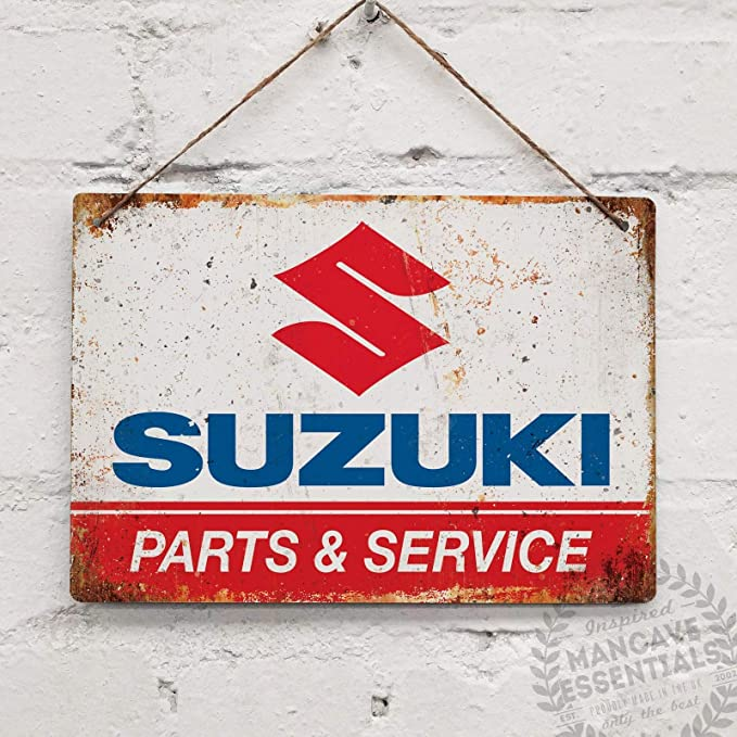 """Suzuki  Metal Sign 6/"""" x 18/"""""""