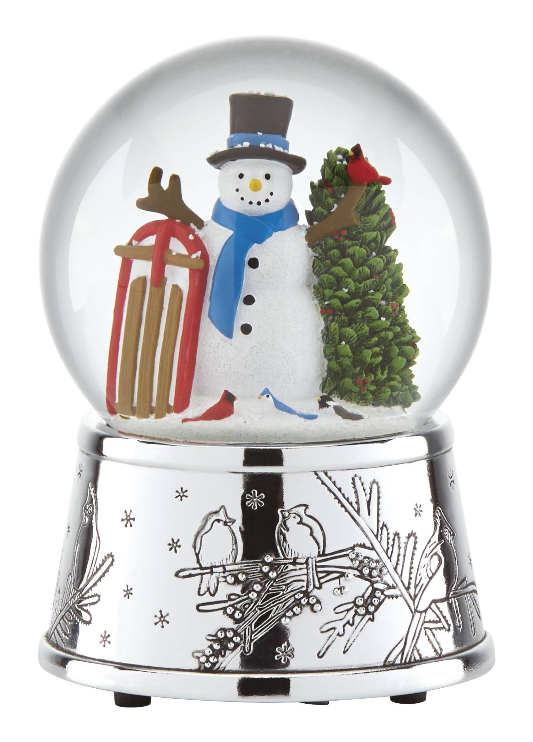 Reed & Barton Snowmen & Sleigh - Snowglobe by Reed & Barton