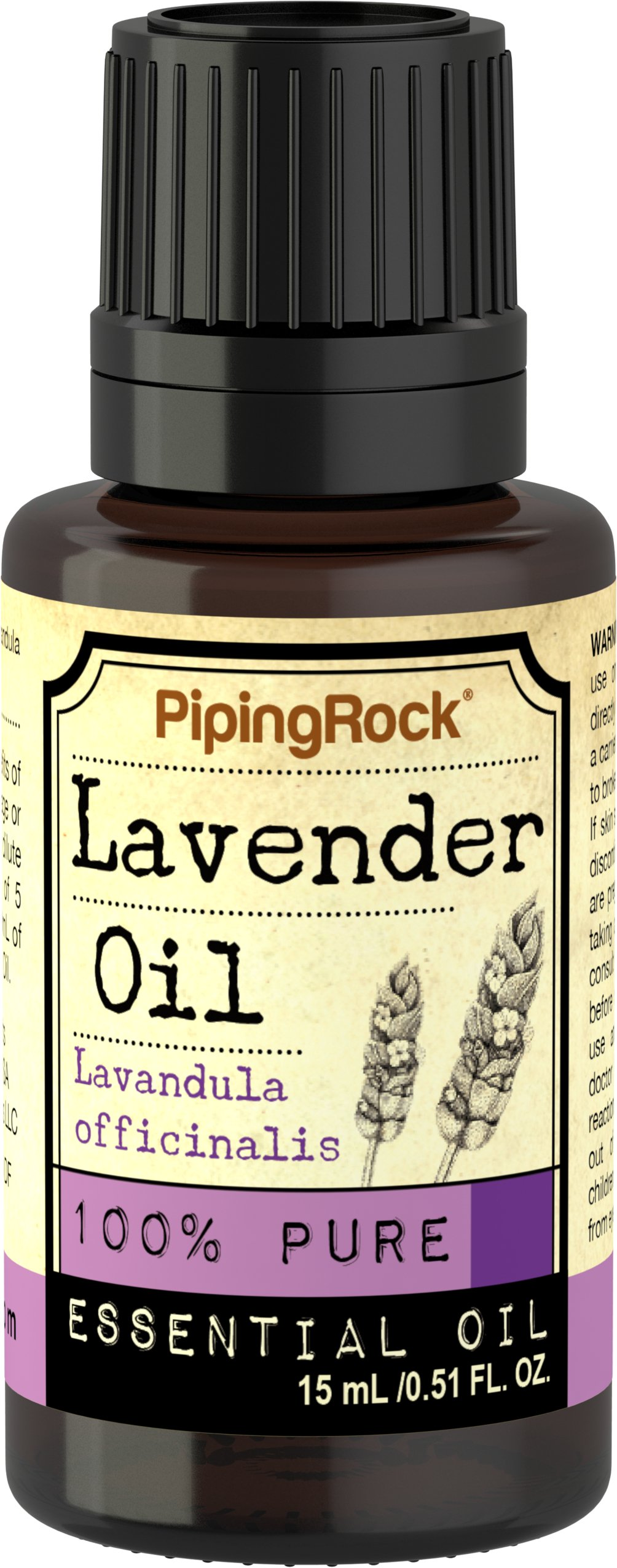 Piping Rock Lavender 100% Pure Essential Oil 1/2 oz (15 ml) Dropper Bottle Lavandula Officinalis Therapeutic Grade