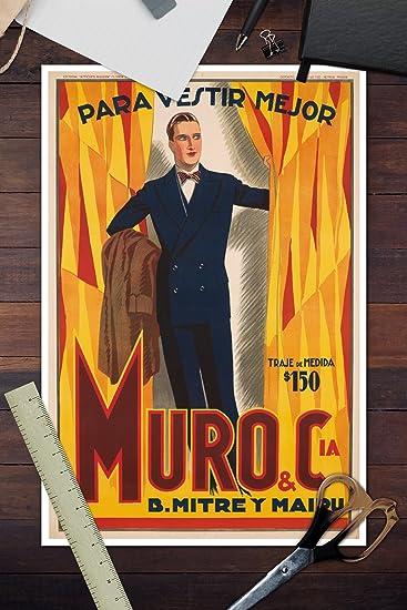 Amazon.com: Muro and CIA Vintage Poster (Artist: Mauzan ...