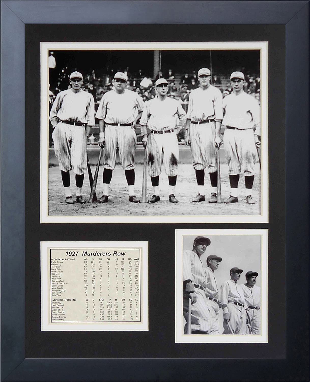 11x14-Inch Legends Never Die 1927 New York Yankees Murderers Row Framed Photo Collage