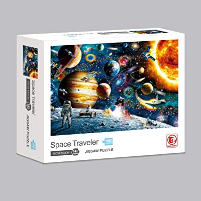 3T6B Space Puzzle 1000 Piece Jigsaw Puzzle Kids Adult Game - Planets in Space Jigsaw Puzzle Suitable for The Exercise of Kidss Thinking Parent-Child Interaction: Toys & Games