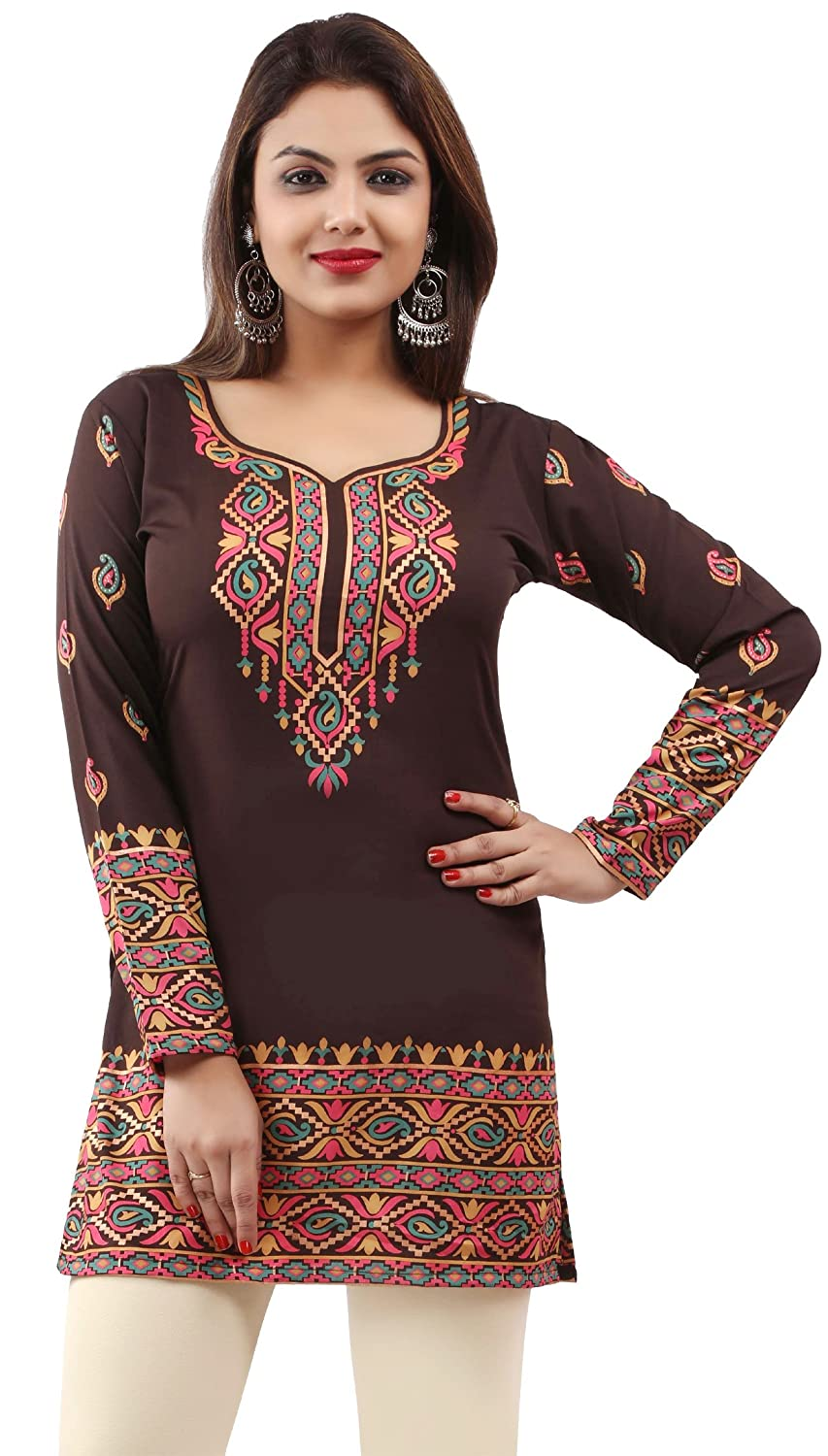 Maple Clothing Indian Kurtis Women's Tunic Top Printed India Clothing Event162p