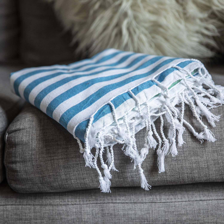 Gute (Set of 6) XXL Turkish Cotton Bath Beach Hammam Turkish Towel Sets Peshtemal Throw Fouta Blanket Set, Luxuries Towels by Gute (Image #2)