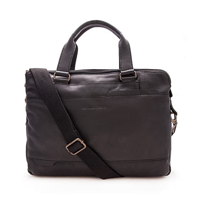 2 opinioni per Zerimar Valigetta Pelle | Messenger Bag | Messenger Bag Vintage | Satchel Bag |