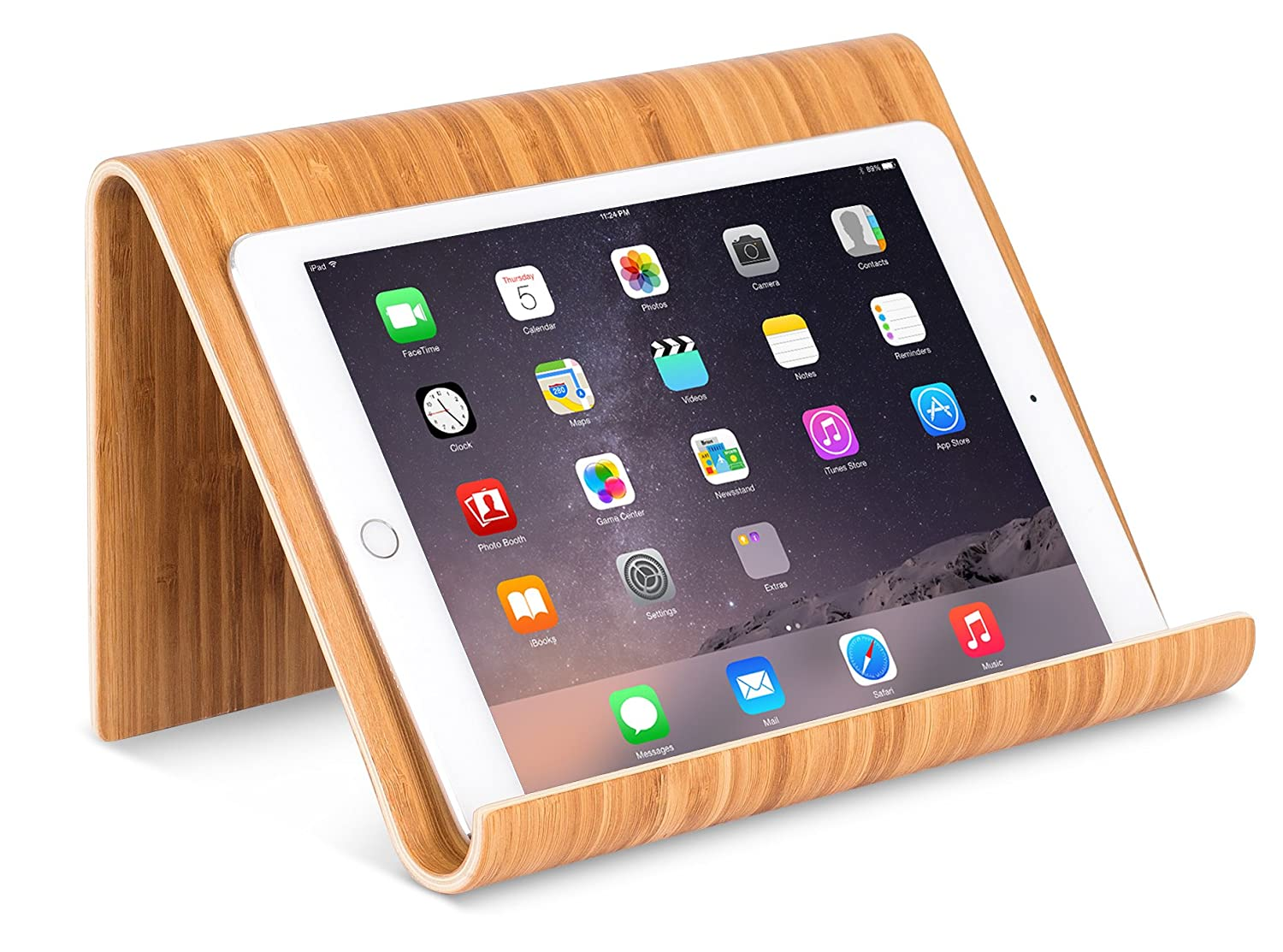Sofia Sam Bamboo Tablet Holder And Stand Natural Wood