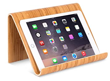 Sofia + Sam Bamboo Tablet Holder and Stand - Natural Wood - Works with  iPad, Surface etc. - Cookbook Book E-Readers Smartphones - Kitchen Table  Top - ...