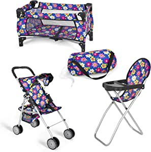 Amazon.com: Exquisite Buggy Doll 3 Piece Play Set Baby ...