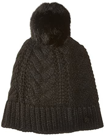 6e2bc018d86f9 Amazon.com  Vince Camuto Women s Cable-Stitch Pom Hat