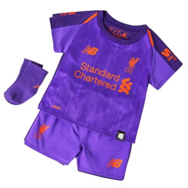 low priced 133a1 e4bdc New Balance Liverpool 2018/19 Kids Baby Toddler Away Football Kit Purple