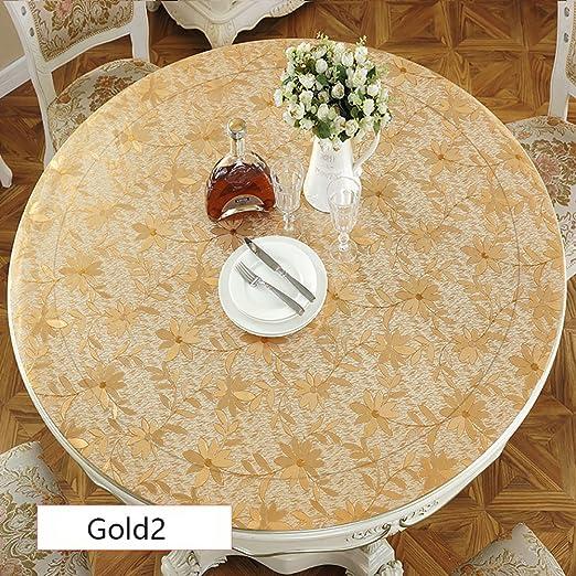 magilona Home redondo Mantel impermeable de PVC pantalla para mesa ...