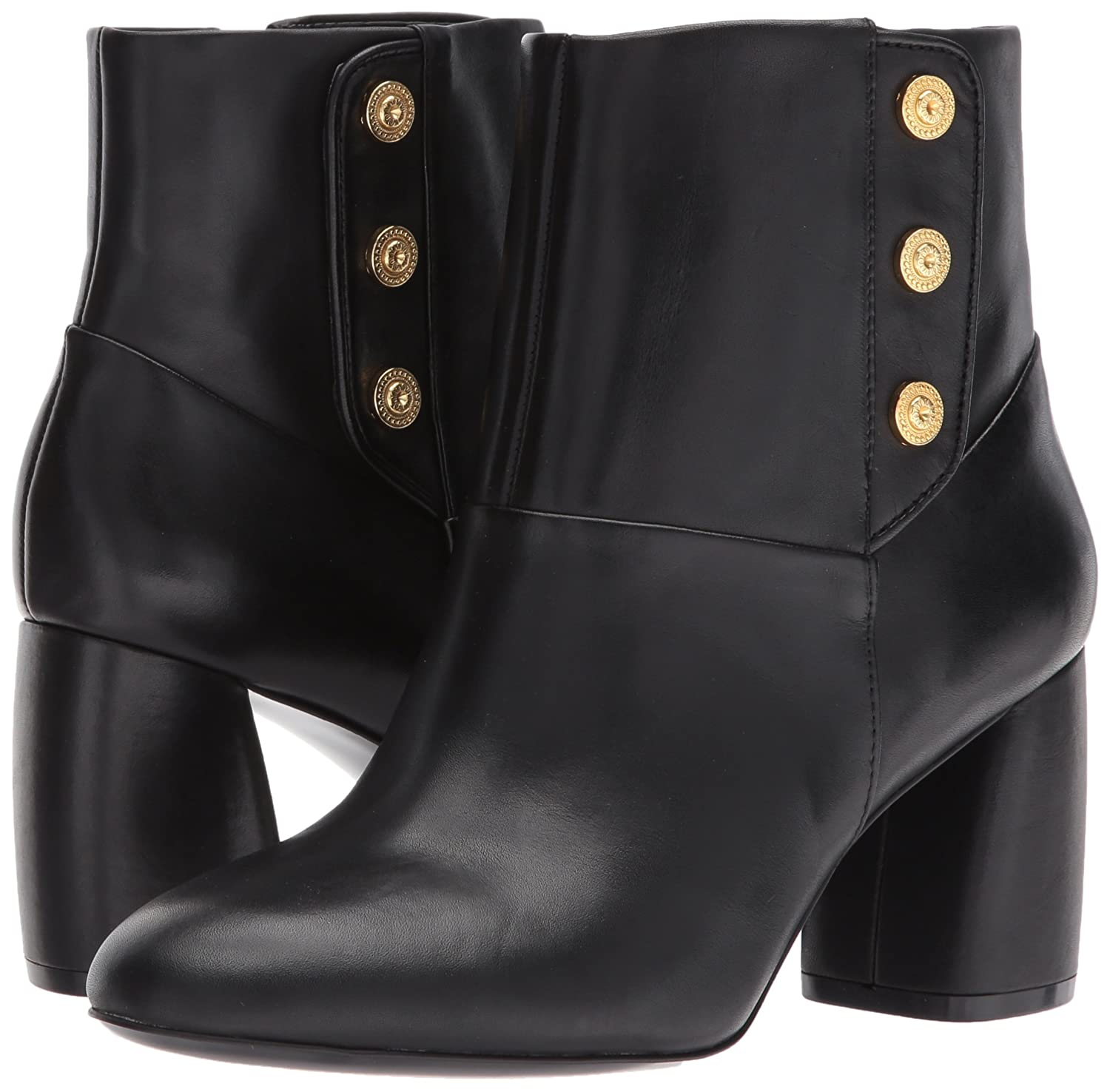 Nine West Women's Kirtley Leather Ankle Boot B01ND428C3 7.5 B(M) US|Black